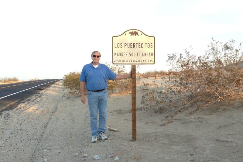 NO. 635 LOS PUERTECITOS - State Road Sign