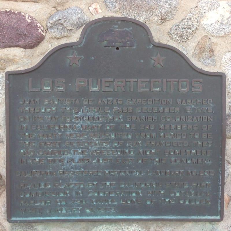 NO. 635 LOS PUERTECITOS -  State Plaque
