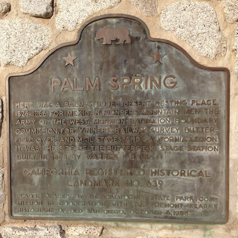 NO. 639 PALM SPRINGS - State Plaque