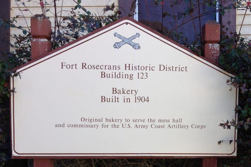 NO. 62 FORT ROSECRANS -   Bakery 1904 Marker