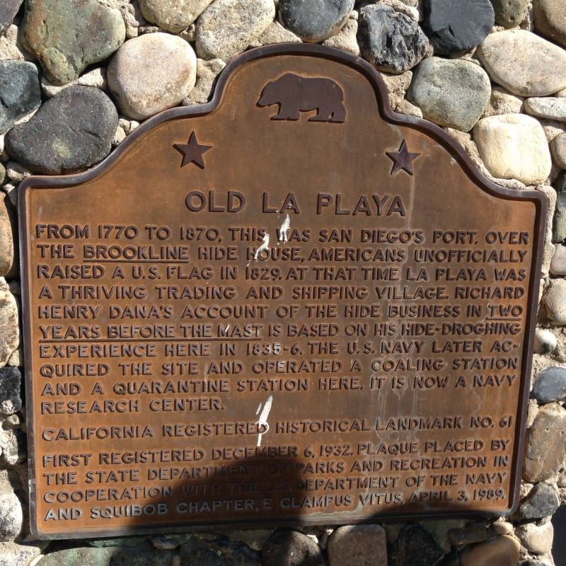 No. 61 OLD LA PLAYA - State Marker