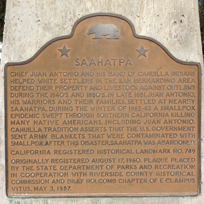NO. 749 SAAHATPA - State Plaque