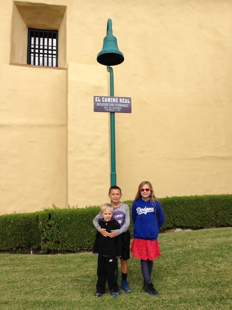 CHL #157 - Mission San Fernando Rey de España -- El Camino Real Bell