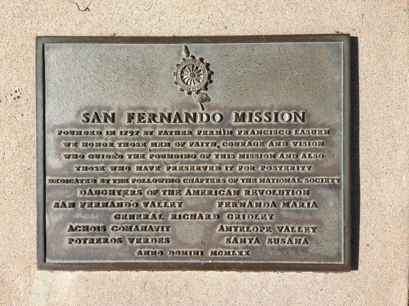 CHL #157 - Mission San Fernando Rey de España -- Private Marker