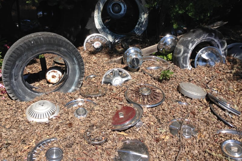 NO. 939 Litto's Hubcap Ranch- Pile of Hubcaps