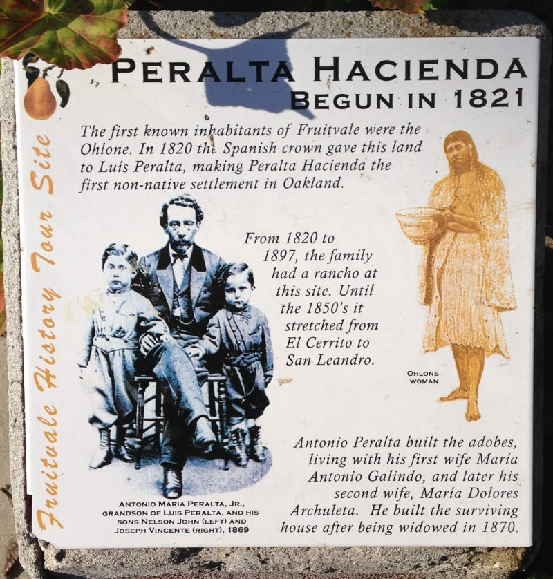 NO. 925 PERALTA HACIENDA SITE - Information Board