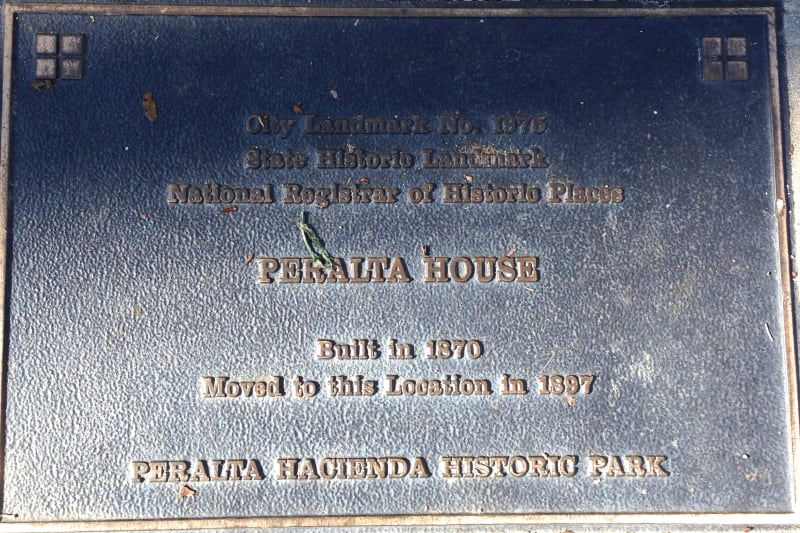 NO. 925 PERALTA HACIENDA SITE - Private Plaque