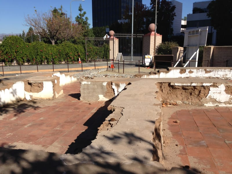 No. 151 Campo de Cahuenga - Foundation of the Adobe