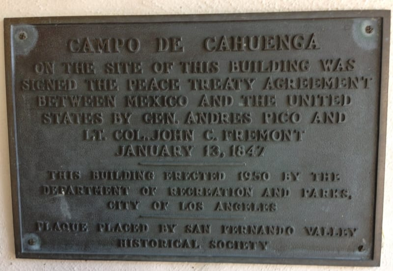 No. 151 Campo de Cahuenga - Private plaque