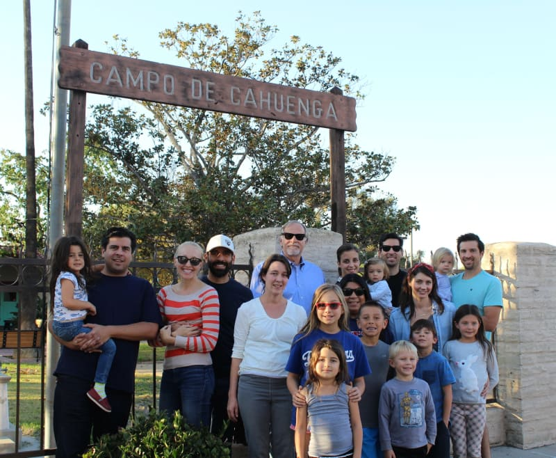 No. 151 Campo de Cahuenga - Our whole family came to celebrate our last landmark!