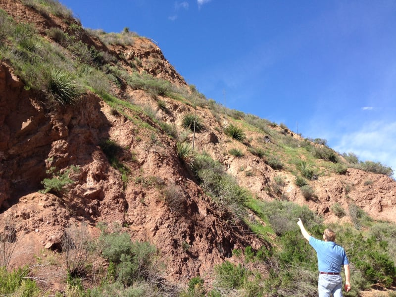 NO. 919 ST. FRANCIS DAM DISASTER SITE - West wall anchored to schist
