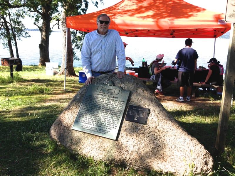 CHL #569 Mormon Island Marker at Folsom Lake