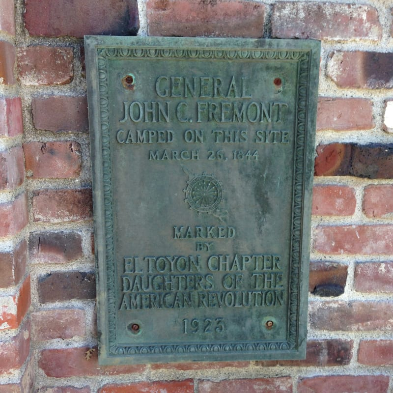 CHL No. 995 Trail of the John C. Fremont - plaque