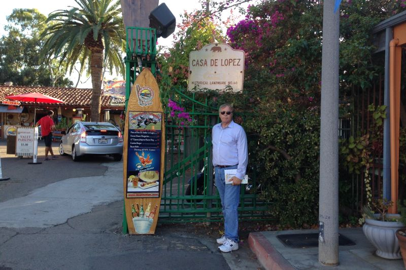 CHL #60 Casa de Lopez Street Sign