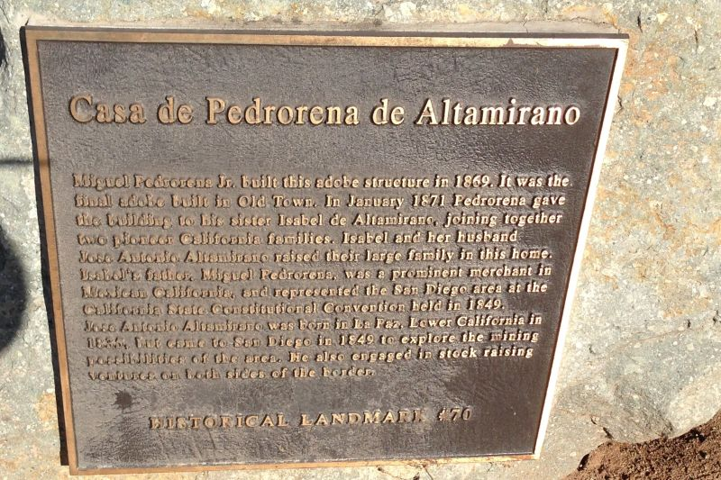 CHL #70 Casa de Pedrorena Private Plaque