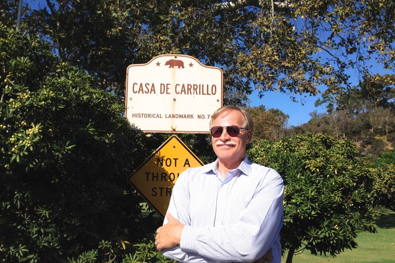 CHL #74 Casa de Carrillo Street Sign