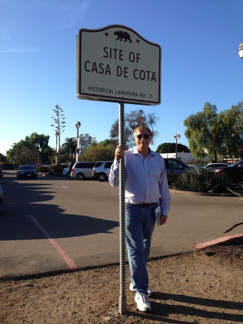 CHL #75 - Casa de Cota Site Street Sign