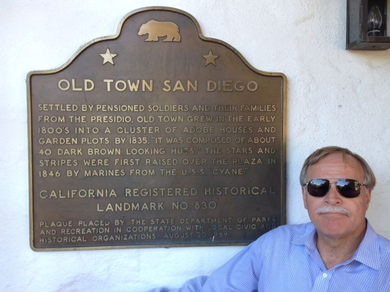 CHL #830  Old Town San Diego State Plaque