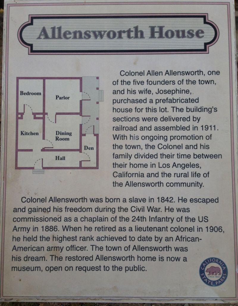 CHL #1047  Allensworth  (Allensworth Family House Floorplan)