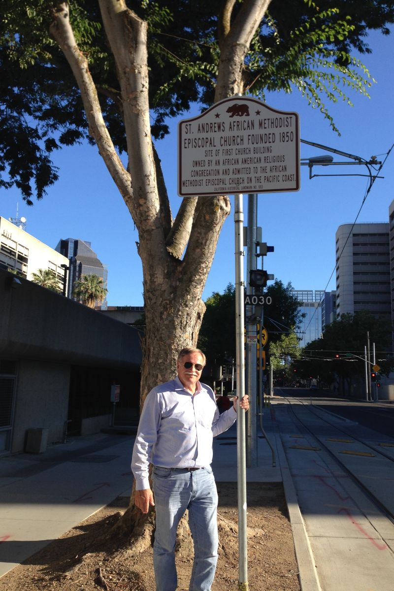 CHL #1013 SITE OF THE FIRST AFRICAN AMERICAN EPISCOPAL CHURCH ON THE PACIFIC COAST -