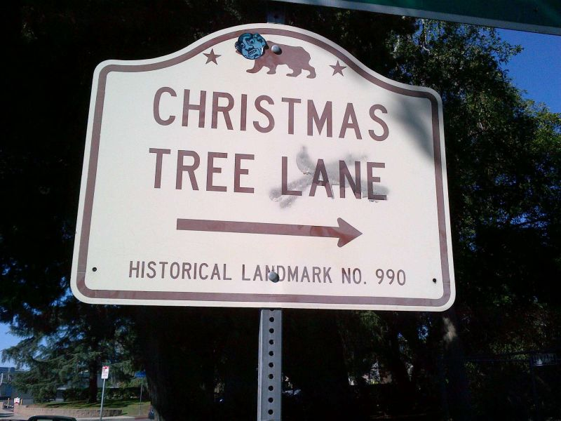 CHL #990 Christmas Tree Lane Street Sign