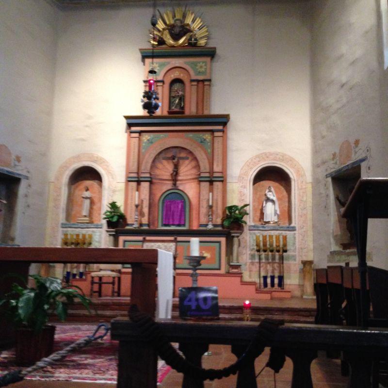 CHL #242 - Mission San Diego de Alcala --Front altar