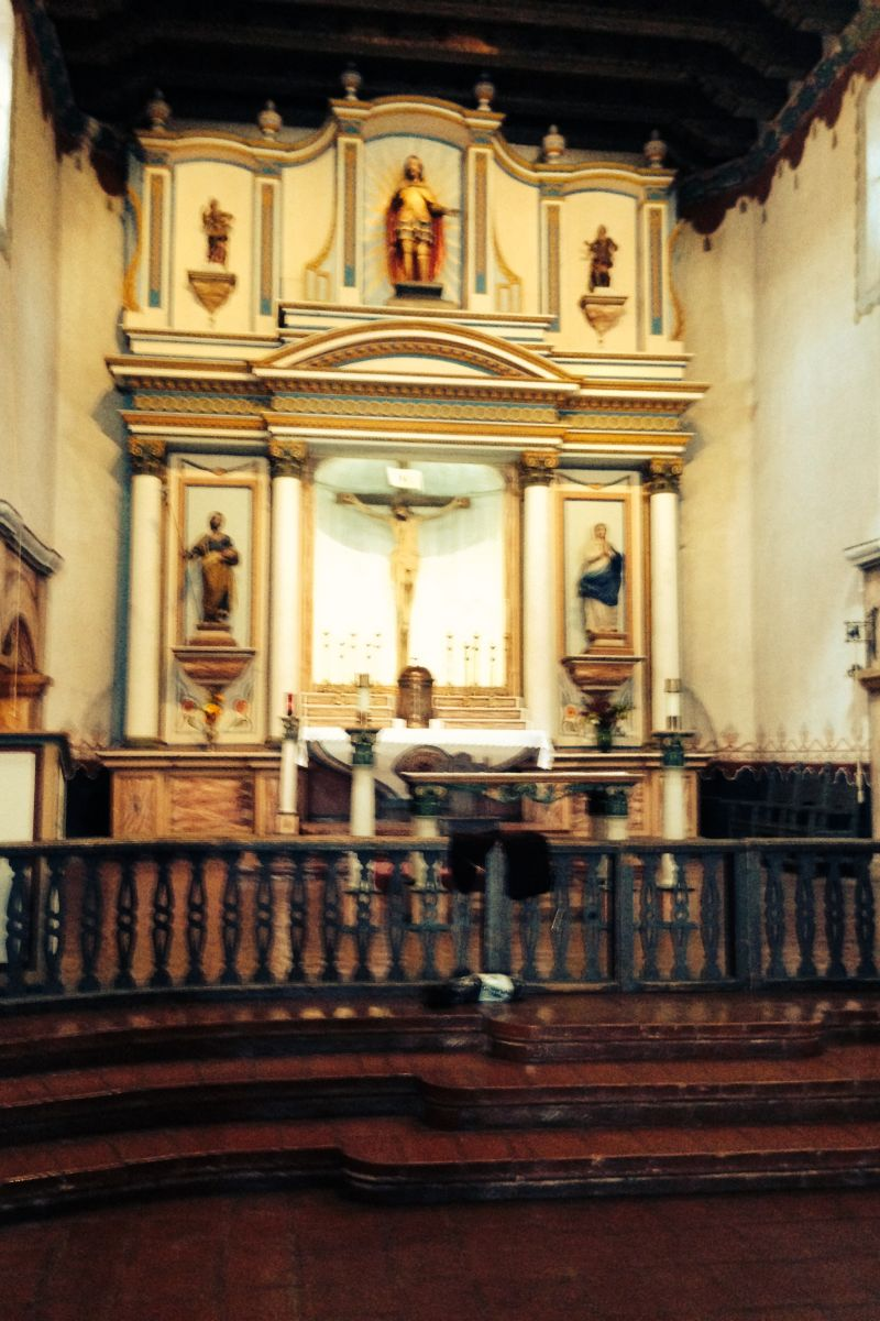 CHL #239 Mission San Luís Rey de Francia-- Front altar