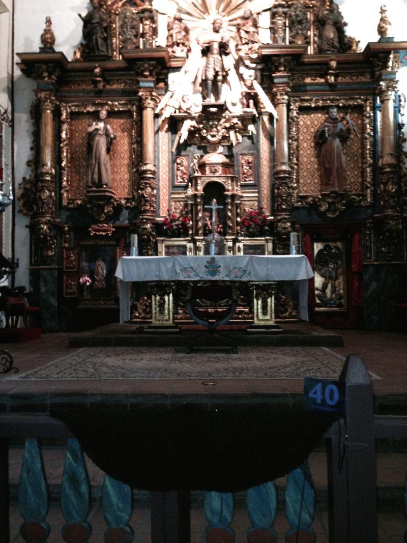 CHL #157 Mission San Fernando Rey de España --  Front altar