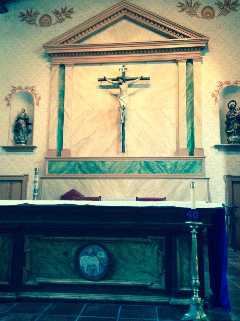 CHL #325 - Mission San Luis Obispo de Tolosa   --  Front Altar