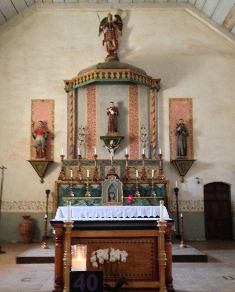 CHL #232 - Mission San Antonio de Padua -- Front Altar