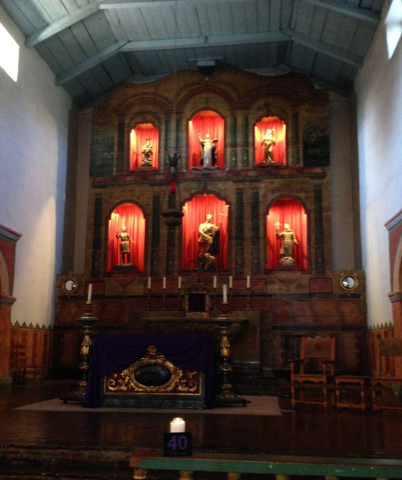 CHL #195 - Mission San Juan Bautista --Front Altar