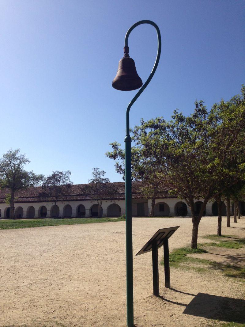 CHL #195 - Mission San Juan Bautista --El Camino Real Bell