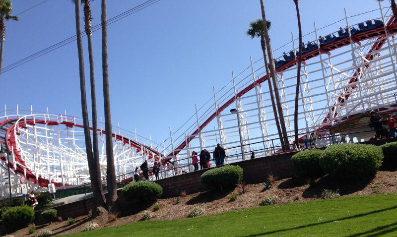NO. 983 SANTA CRUZ BEACH BOARDWALK -  Dipper Roller Coaster