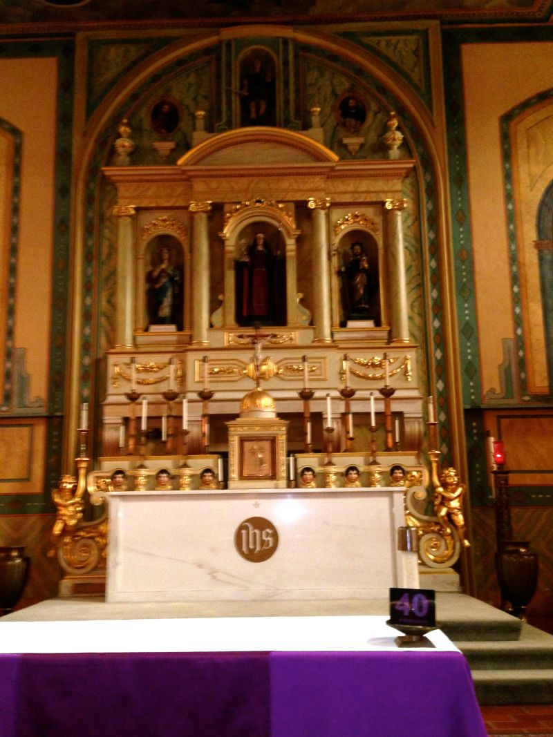 CHL #338 Mission Santa Clara-  Front Altar