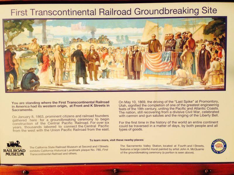 CHL # 780 Transcontinental Railroad Sacramento