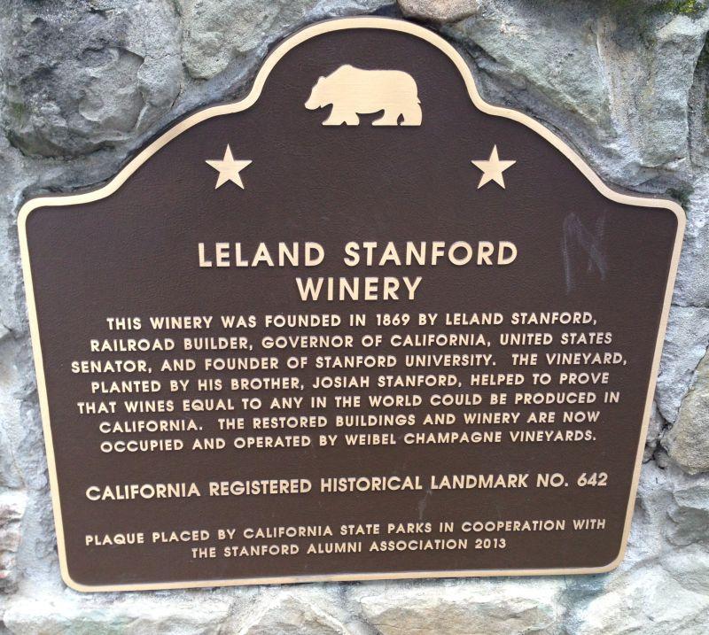 CHL #642 LELAND STANFORD WINERY