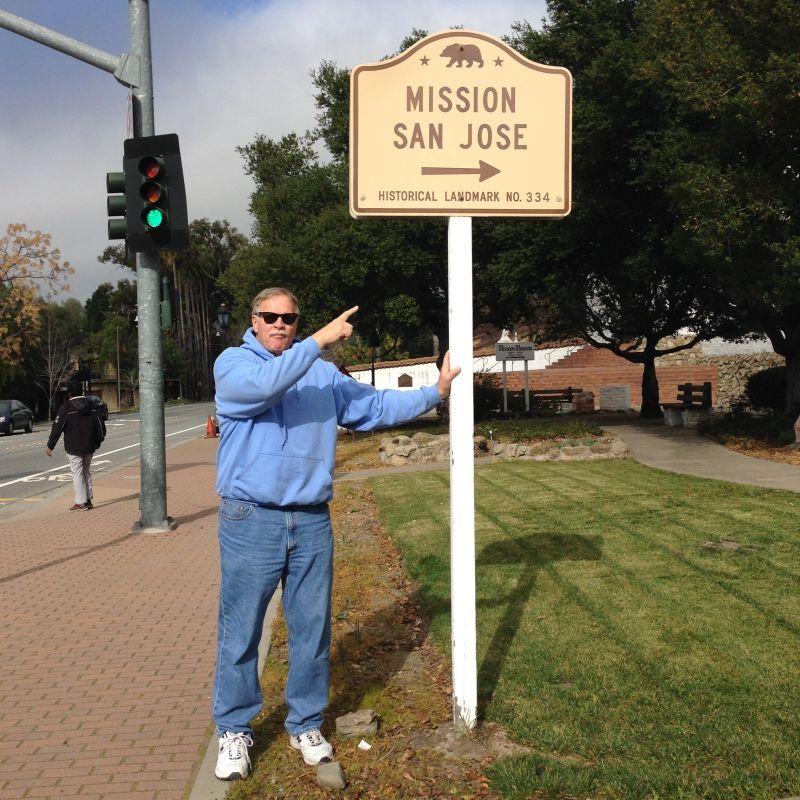 CHL #334 Mission San Jose --  State plaque--Street Sign