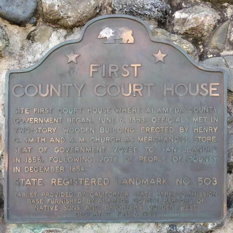 CHL #503 First County Courthouse Site-- State Plaque