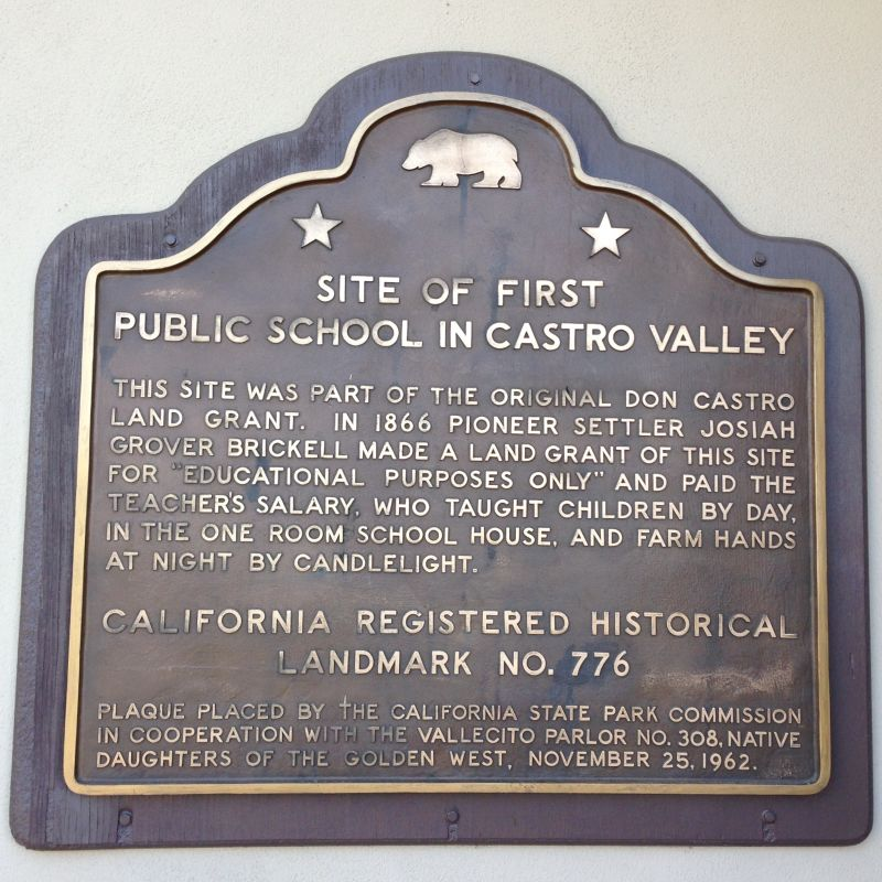 CHL #776 Castro Valley Public School Site - State Plaque