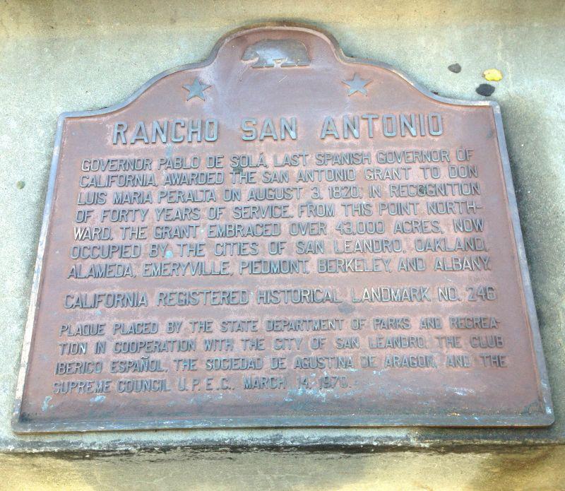 CHL #246 Rancho San Antonio--State Plaque