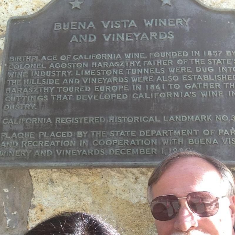 CHL #392 Buena Vista Winery- State Plaque
