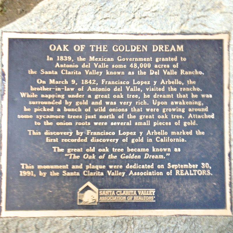 CHL #168  Oak of the Golden Dream Private Plaque