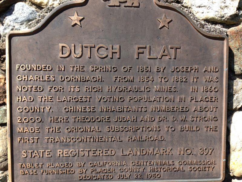CHL #397 Dutch Flat State Plaque