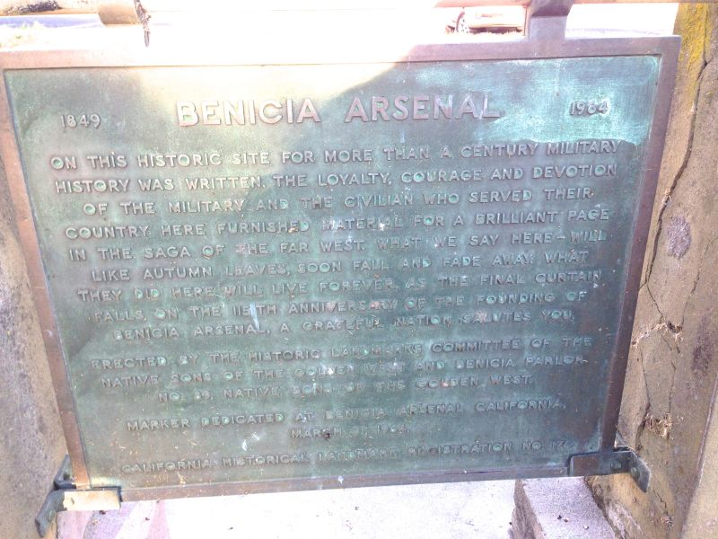CHL #176  Benicia Arsenal State Plaque
