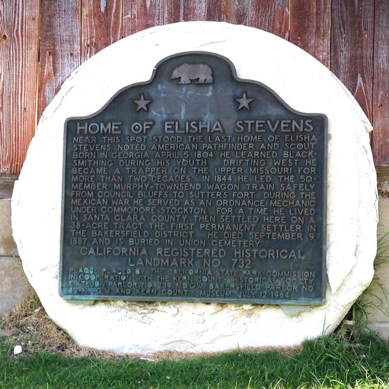 CHL #732 - Elisha Stevens Home State Plaque