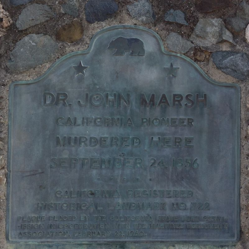 CHL #722 - Marsh Murder Site State Plaque