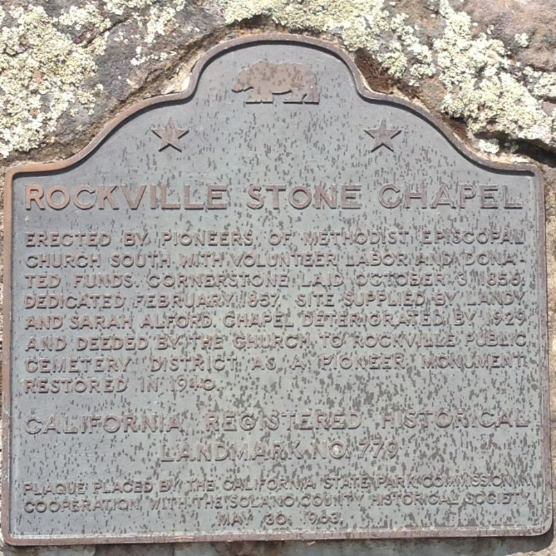 CHL #779 - Rockville Stone Chapel State Plaque