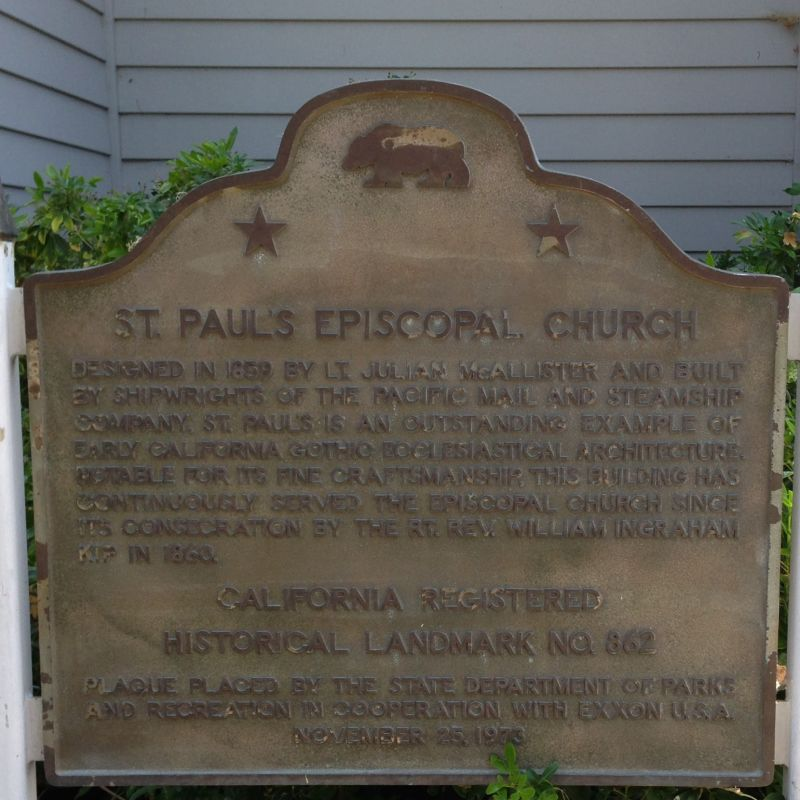 CHL #862 - St. Paul's Episcopal Church State Plaque