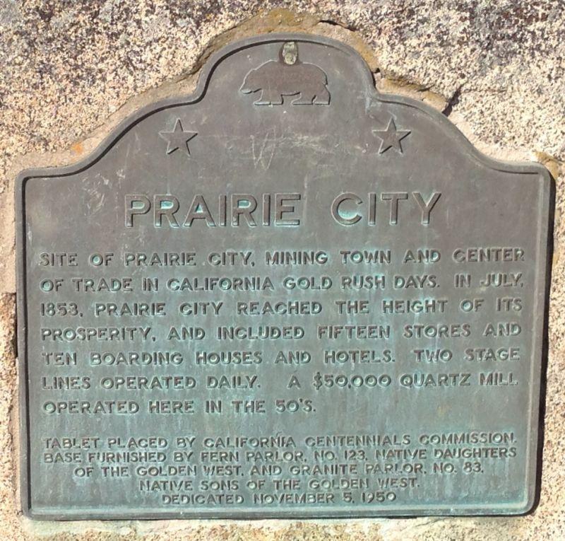 CHL #464 - Prairie City Site State Marker