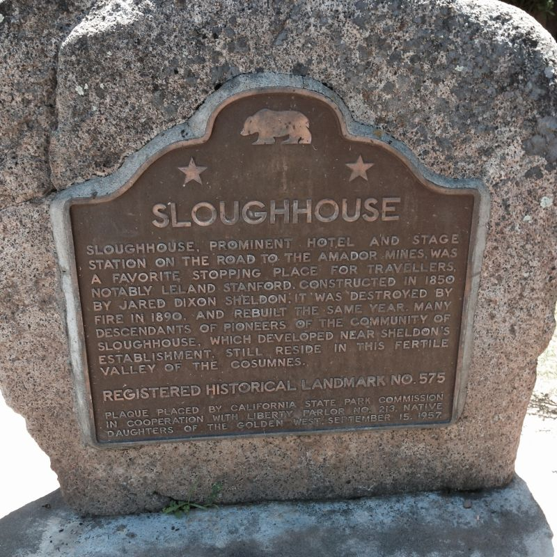 CHL #575 - Sloughhouse State Plaque